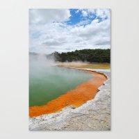 Thermal Pool Canvas Print