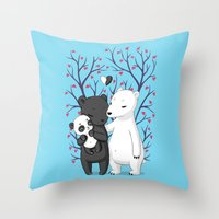 Bear Family Throw Pillow