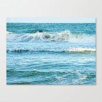 Enjoying the surf in summer Canvas Print