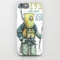iPhone & iPod Case featuring Diver by pakowacz