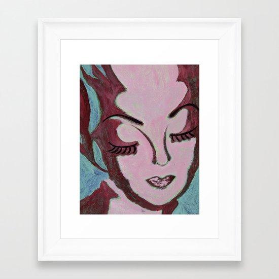 Mug Shot Mauve/Lare and Penates Series  Framed Art Print