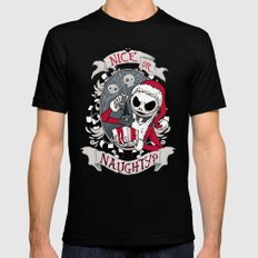 Scary Santa Black Mens Fitted Tee SMALL