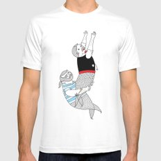 On how some species of mermen resolve trivial quarrels White Mens Fitted Tee SMALL