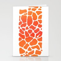 Giraffe Print | Animals Stationery Cards