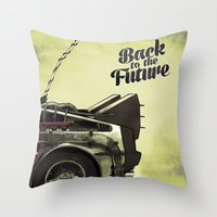 Back to the future Throw Pillow