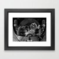 Volkswagen Beetle Engine Framed Art Print