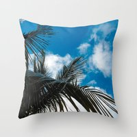 Sky Behind The Trees Throw Pillow