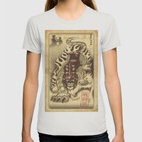 Battlecat Womens Fitted Tee Silver SMALL