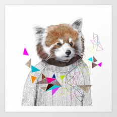 RED PANDA by Jamie Mitchell and Kris Tate Art Print