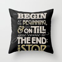 Begin at the Beginning Throw Pillow