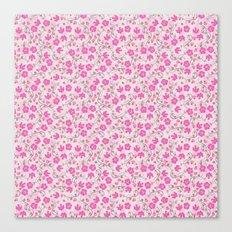 pink floral design Canvas Print