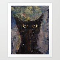 Ninja Cat Art Print