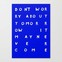 TOMORROW /3/ Canvas Print