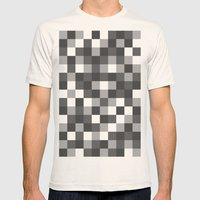 Colour Block Black and White Mens Fitted Tee Natural SMALL