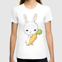 Bunny Carrot 2 Womens Fitted Tee White SMALL