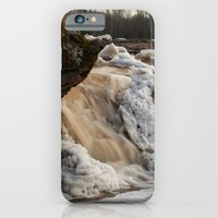 iPhone & iPod Case featuring Wintry Bonanza Falls  by Heather Newkirk Photography