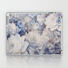 blue vintage floral Laptop & iPad Skin