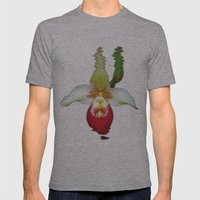 Lady Slippers Orchid Mens Fitted Tee Athletic Grey SMALL
