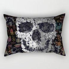 Doodle Skull Rectangular Pillow