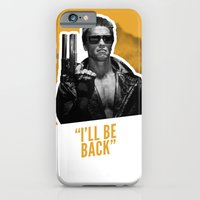 iPhone & iPod Case featuring Badass 80's Action Movie Quotes - The Terminator by Casa del Kables