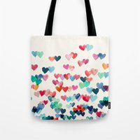 Heart Connections - Wate… Tote Bag
