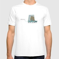 Vroom Mens Fitted Tee White SMALL