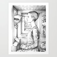 Portrait Of A Woman With… Art Print