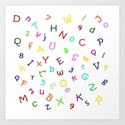 Kids Alphabet Soup Shower Curtain/Duvet - White Art Print