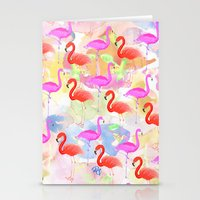 Red Hot Flamingo  Stationery Cards