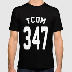 TCOM 347 AREA CODE JERSEY Mens Fitted Tee SMALL Black