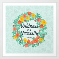 Floral Wildness Art Print