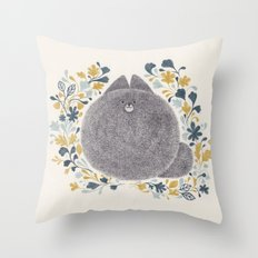 kitch cat Throw Pillow