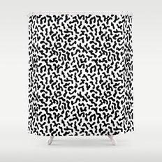 Berlin Boombox Oldschool Pattern Shower Curtain