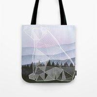 Geometric Nature - Bear (Full) Tote Bag
