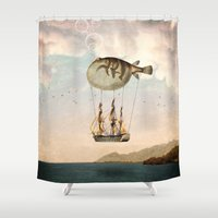The Big Journey Shower Curtain