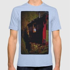 Gypsie wagon Mens Fitted Tee Athletic Blue SMALL