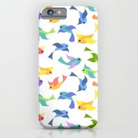 iPhone & iPod Case featuring Ditsy birds by virginia odien