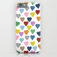 iPhone & iPod Case featuring Hearts #3 by Project M