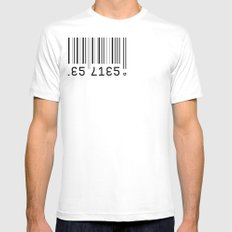 Lies Lies Mens Fitted Tee SMALL White