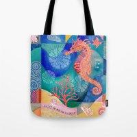 Seahorse collage Tote Bag