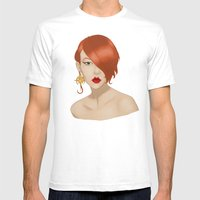 Posh in Space Mens Fitted Tee White SMALL