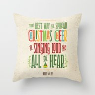 Buddy The Elf! The Best … Throw Pillow