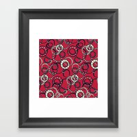 Honolulu hoopla red Framed Art Print