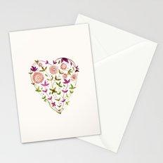 GARDEN HEART - PURPLE Stationery Cards