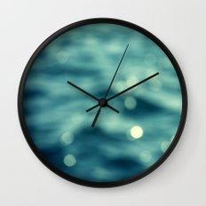 Bokeh Water Wall Clock