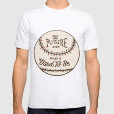 The Future Ain't What It… Mens Fitted Tee Ash Grey SMALL