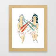 Subtle Duel Framed Art Print