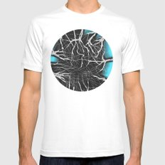 SkyShadows SMALL White Mens Fitted Tee