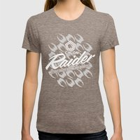RAIDER Womens Fitted Tee Tri-Coffee SMALL
