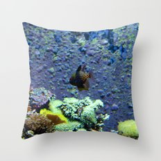 Beautifully Ugly Brown Fish Throw Pillow